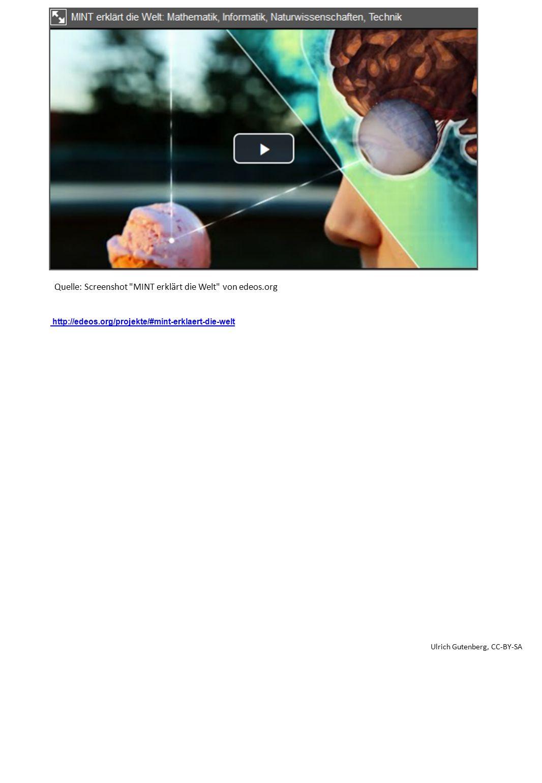 http://edeos.org/projekte/#mint-erklaert-die-welt Quelle: Screenshot MINT erklärt die Welt von edeos.org Ulrich Gutenberg, CC-BY-SA