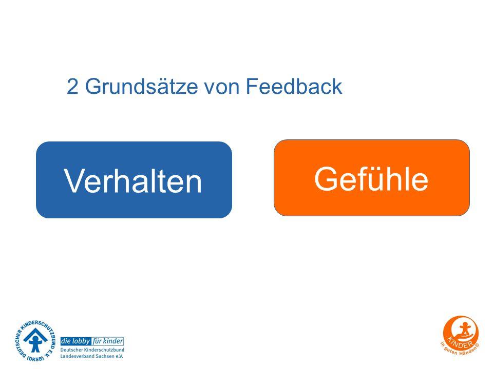 2 Grundsätze von Feedback Verhalten Gefühle