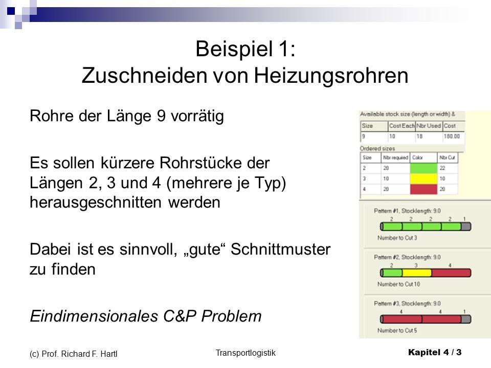 Beispiel für Bottom-Left (BL) Transportlogistik Kapitel 4 / 54 (c) Prof.