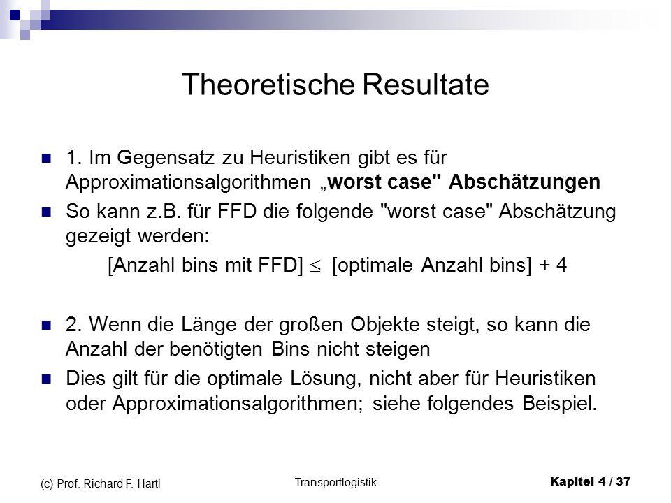 Theoretische Resultate 1.