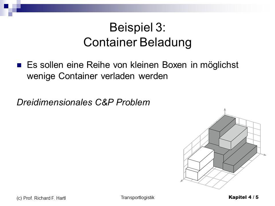 """Bei BL Bei BLF """"bottom left fill Weitere Punkte Mögliche Einfügepositionen Transportlogistik Kapitel 4 / 56 (c) Prof."""