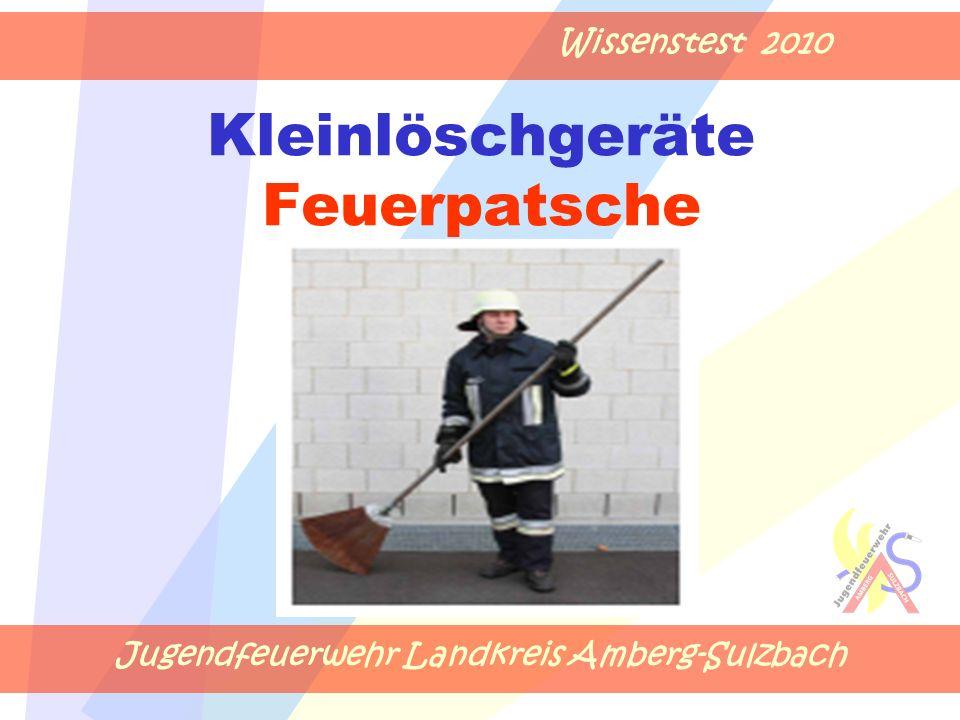 Jugendfeuerwehr Landkreis Amberg-Sulzbach Wissenstest 2010 Kleinlöschgeräte Feuerpatsche