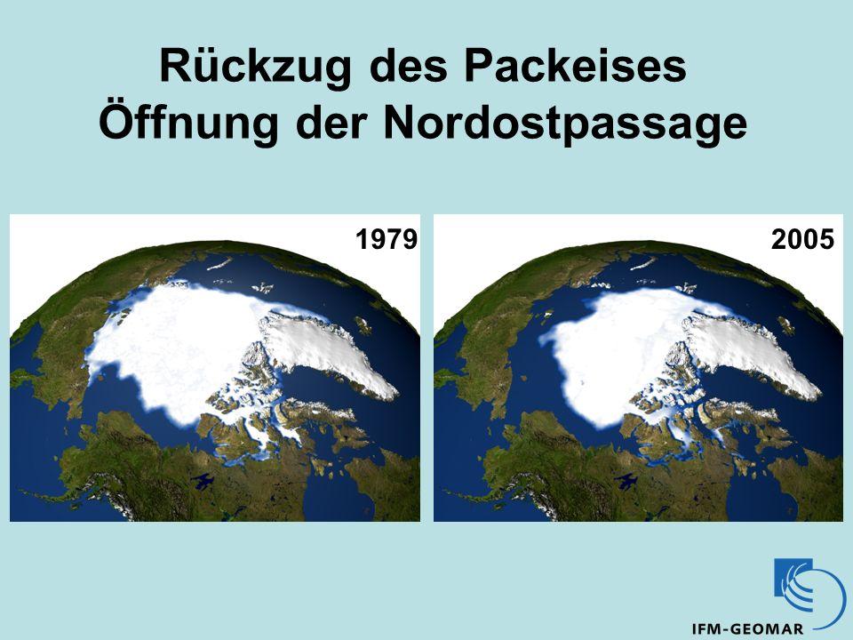 Rückzug des Packeises Öffnung der Nordostpassage 19792005