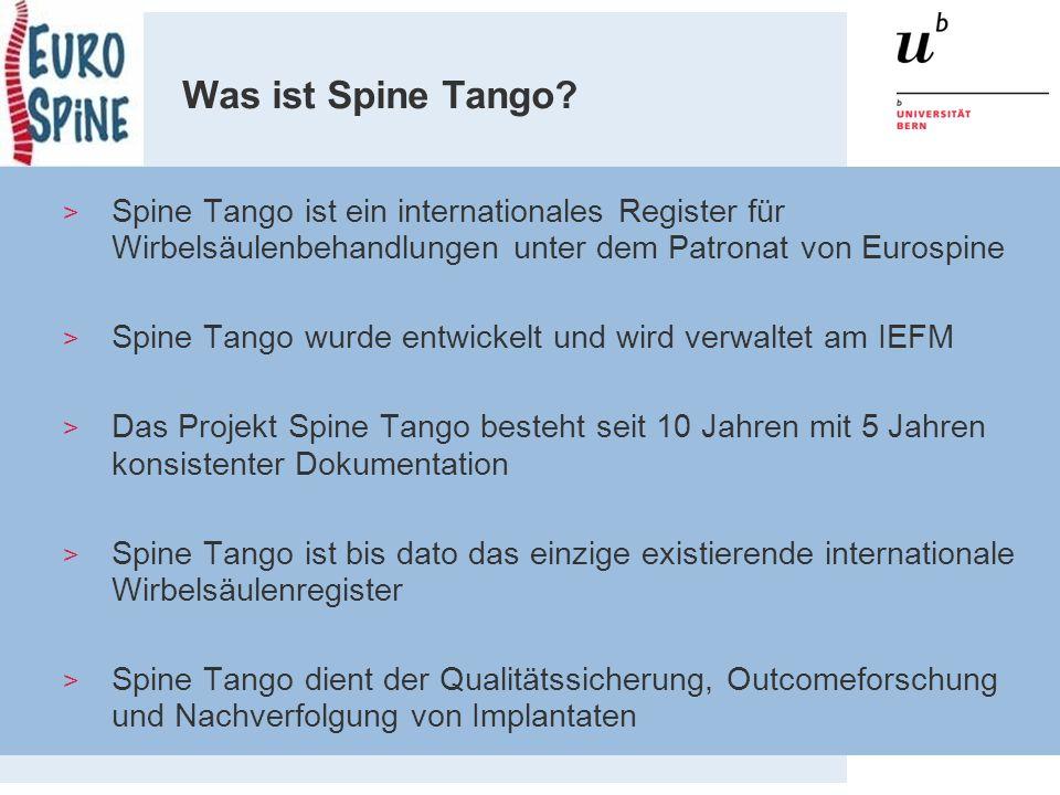 Spine Tango DB - Gegenwart