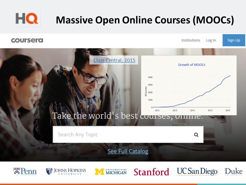 Massive Open Online Courses (MOOCs) Class Central, 2015