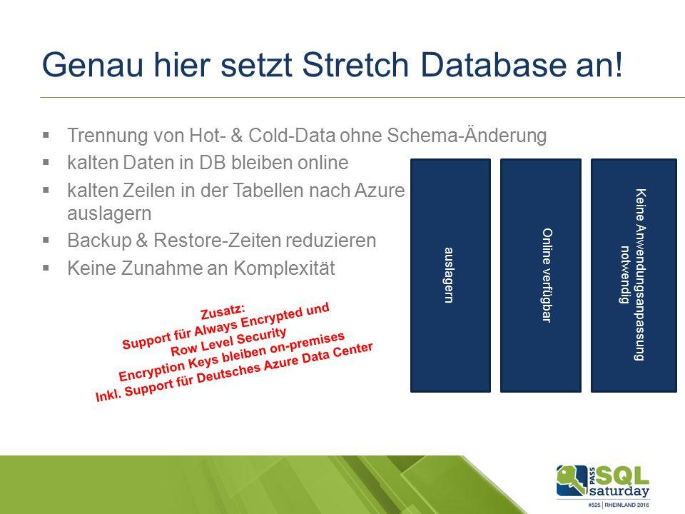 Genau hier setzt Stretch Database an.