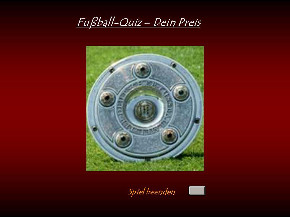 Fußball-Quiz – Dein Preis Spiel beenden