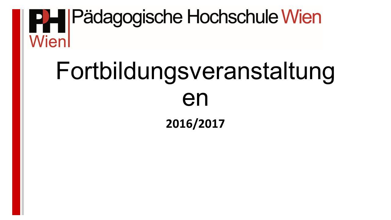Fortbildungsveranstaltung en 2016/2017