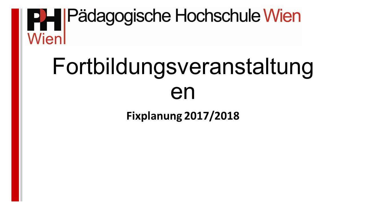 Fortbildungsveranstaltung en Fixplanung 2017/2018