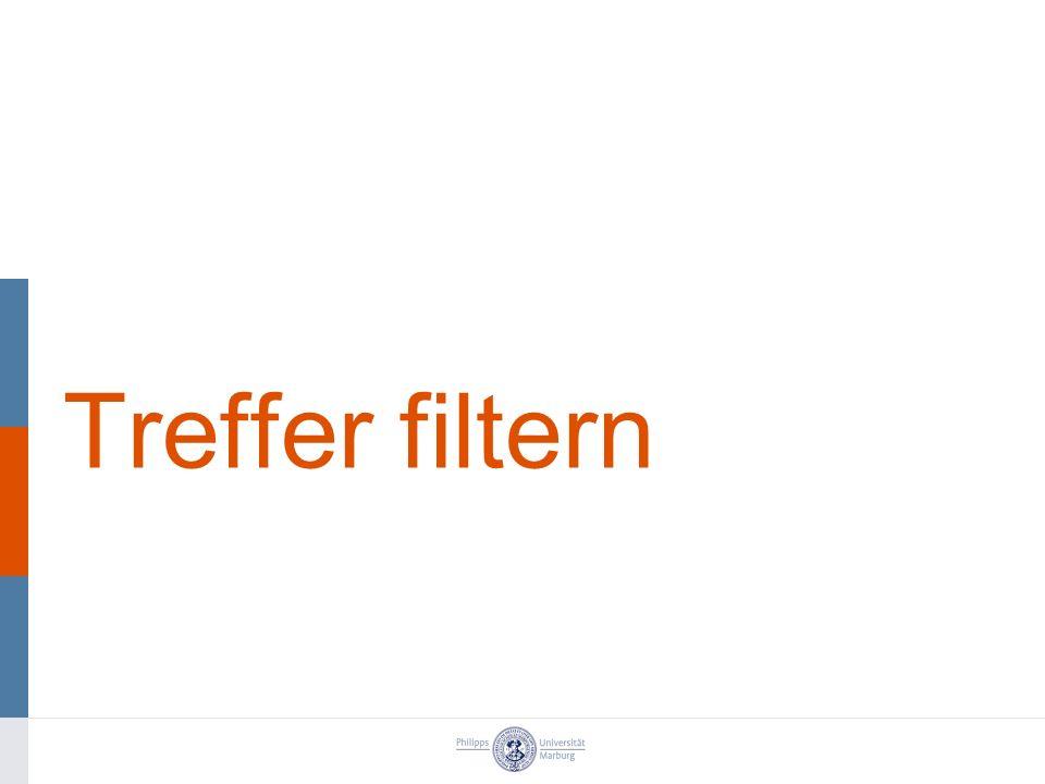 Treffer filtern