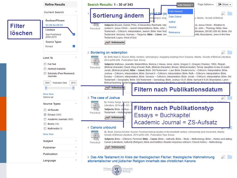 Filter löschen Filtern nach Publikationsdatum Filtern nach Publikationstyp Essays = Buchkapitel Academic Journal = ZS-Aufsatz Sortierung ändern
