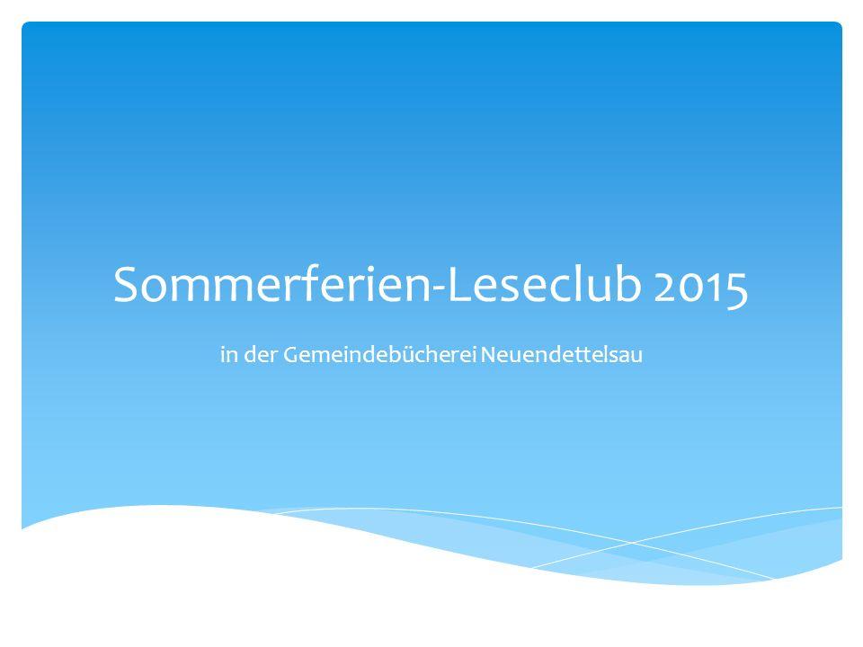 Sommerferien-Leseclub 2015 in der Gemeindebücherei Neuendettelsau
