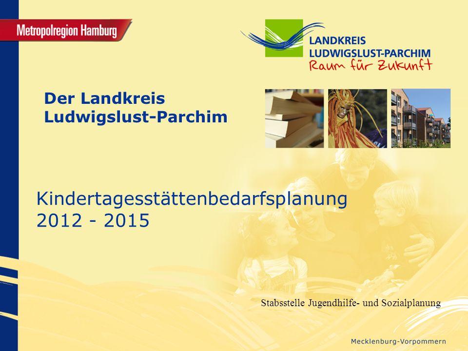 Der Landkreis Ludwigslust-Parchim Kindertagesstättenbedarfsplanung 2012 - 2015 Stabsstelle Jugendhilfe- und Sozialplanung