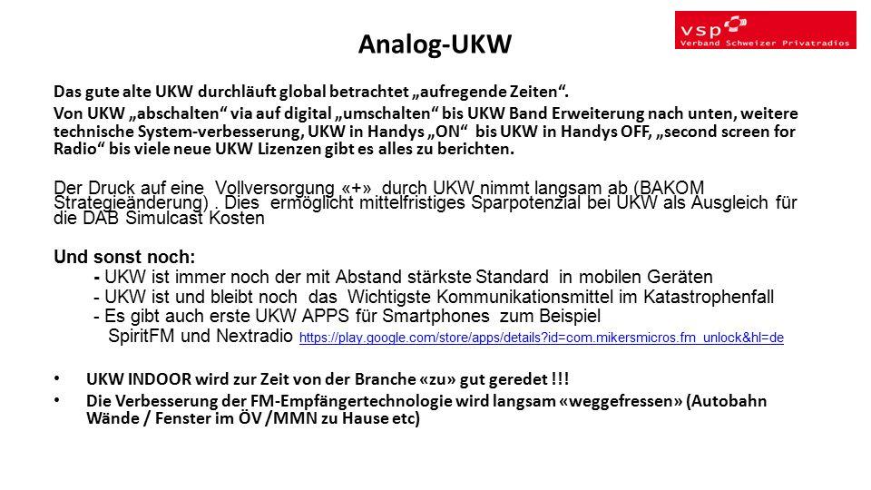 """Analog-UKW Das gute alte UKW durchläuft global betrachtet """"aufregende Zeiten ."""