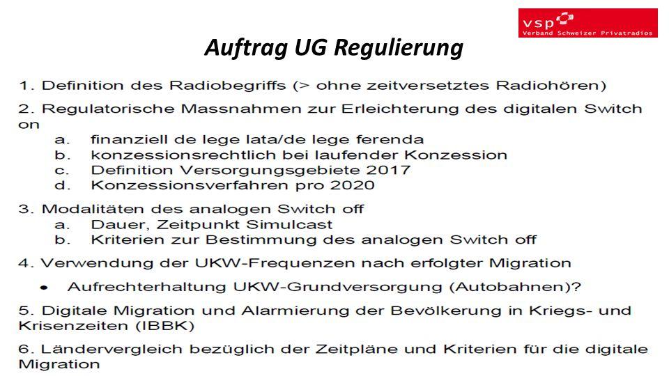 Auftrag UG Regulierung