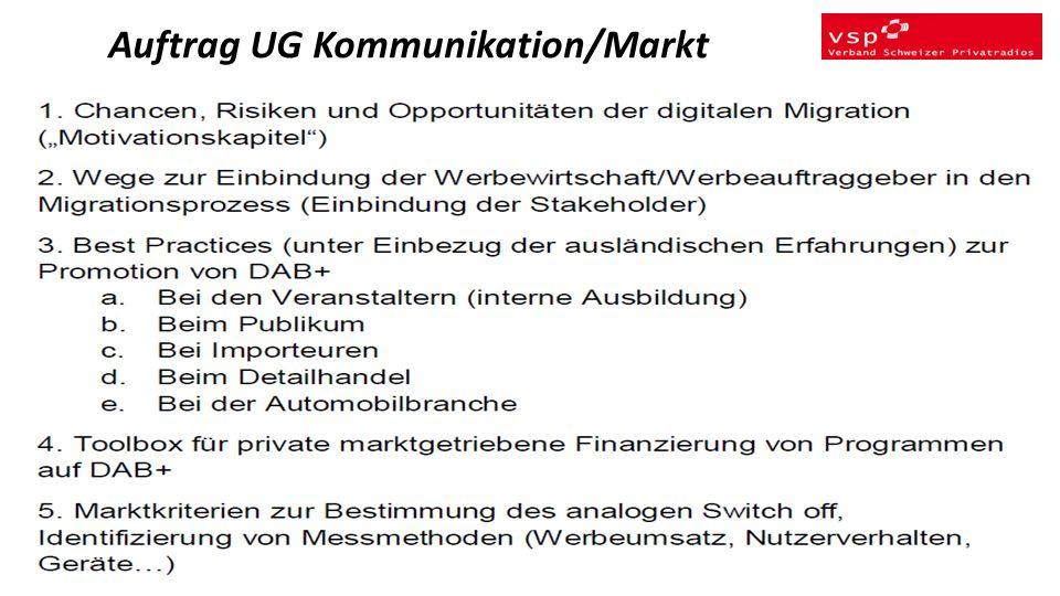 Auftrag UG Kommunikation/Markt