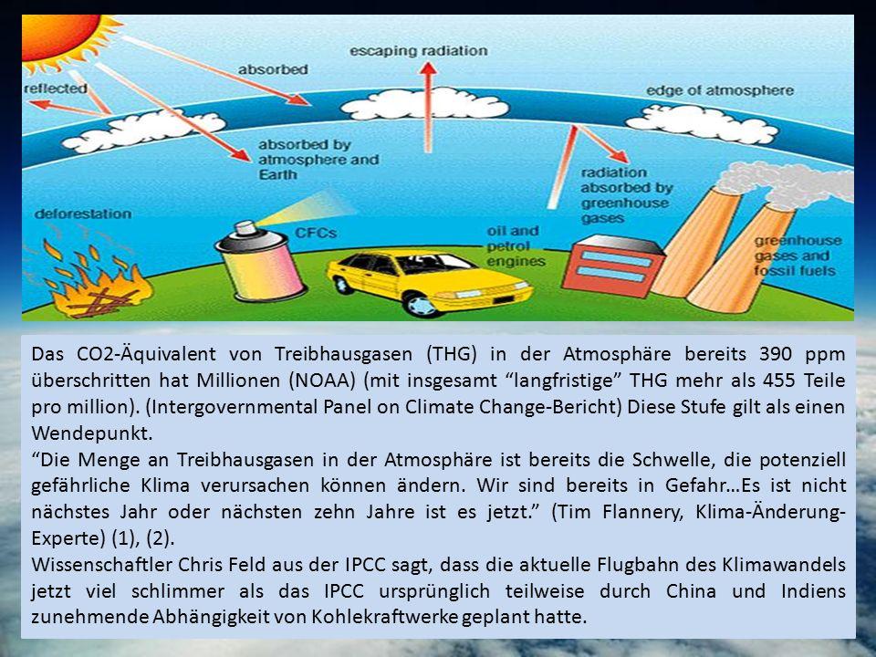 """Das CO2-Äquivalent von Treibhausgasen (THG) in der Atmosphäre bereits 390 ppm überschritten hat Millionen (NOAA) (mit insgesamt """"langfristige"""" THG meh"""