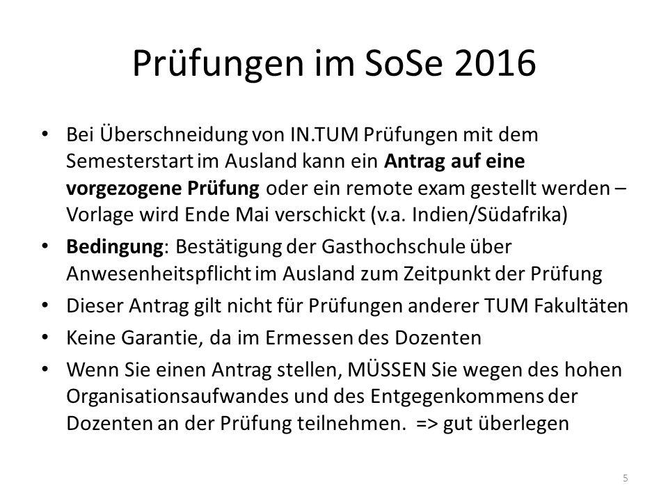 Anerkennungen Formulare, Liste der bisher aus dem Ausland anerkannten Kurse in der Informatik und alle Infos unter: www.in.tum.de/auslandsanerkennung www.in.tum.de/auslandsanerkennung 16