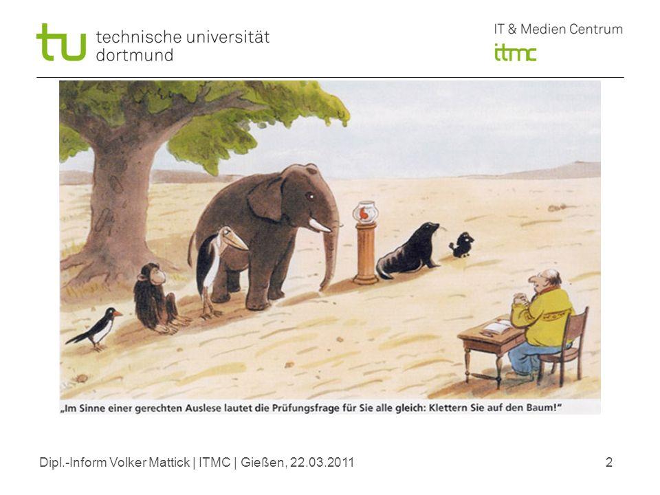 Dipl.-Inform Volker Mattick | ITMC | Gießen, 22.03.20112