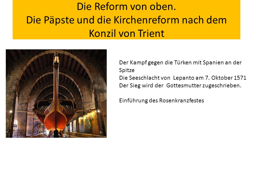 Die Reform von oben.