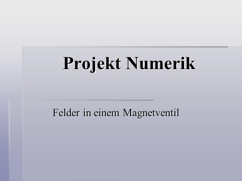 Projekt Numerik Felder in einem Magnetventil