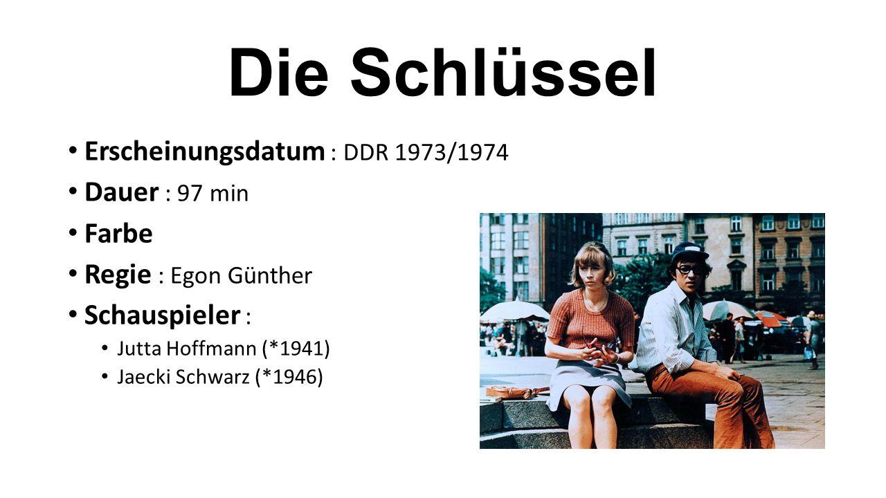 Erscheinungsdatum : DDR 1973/1974 Dauer : 97 min Farbe Regie : Egon Günther Schauspieler : Jutta Hoffmann (*1941) Jaecki Schwarz (*1946)