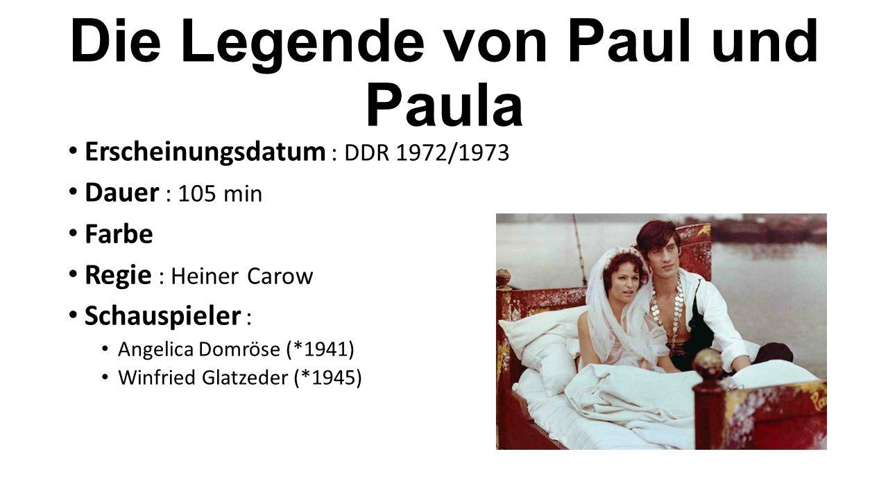 Erscheinungsdatum : DDR 1972/1973 Dauer : 105 min Farbe Regie : Heiner Carow Schauspieler : Angelica Domröse (*1941) Winfried Glatzeder (*1945)