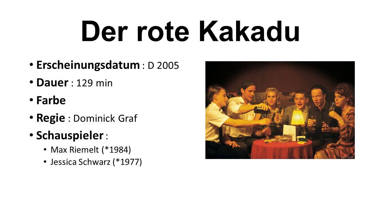 Erscheinungsdatum : D 2005 Dauer : 129 min Farbe Regie : Dominick Graf Schauspieler : Max Riemelt (*1984) Jessica Schwarz (*1977)