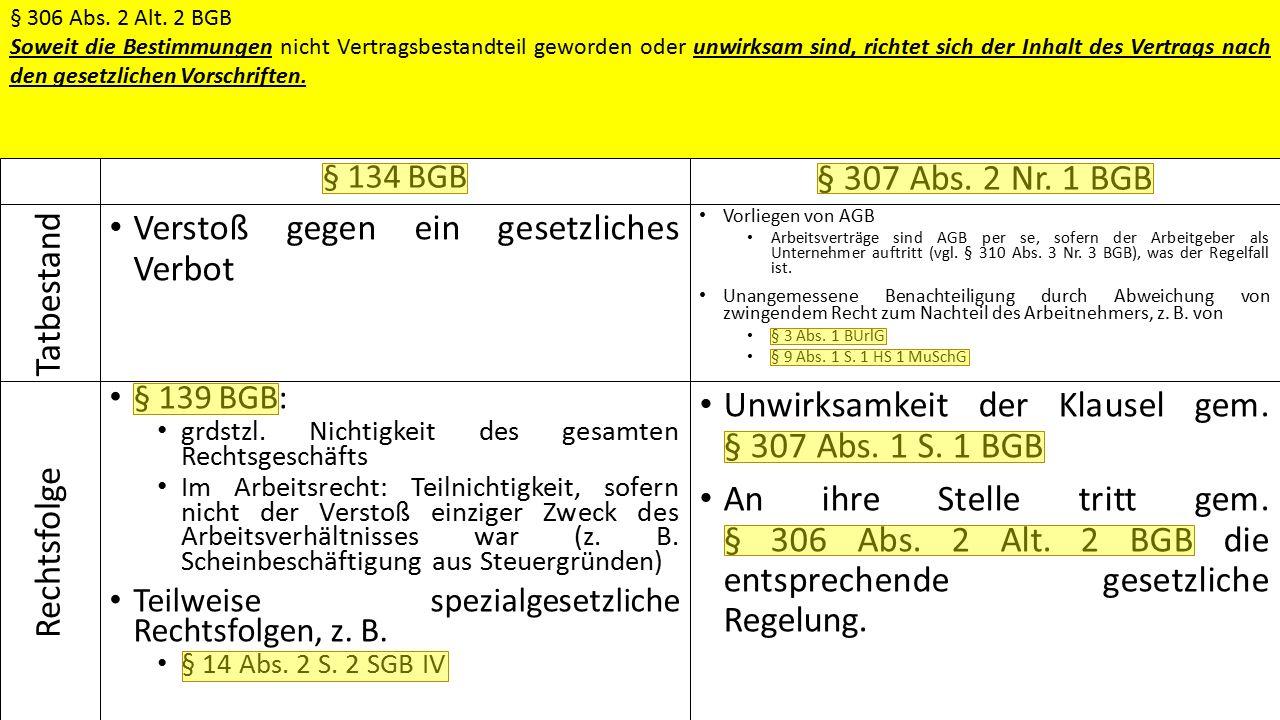 Ausschreibung  Bewerbung  Auswahl  Vertragsschluss § 134 BGB Verstoß gegen ein gesetzliches Verbot § 139 BGB: grdstzl.