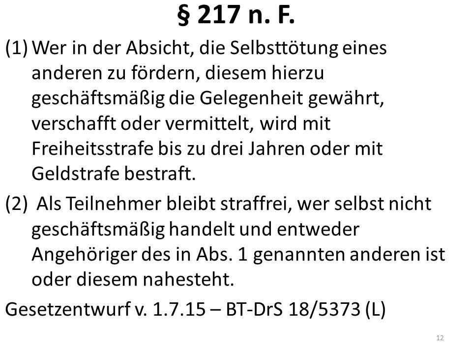 § 217 n. F.