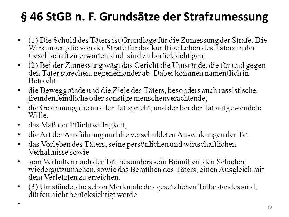 § 46 StGB n. F.