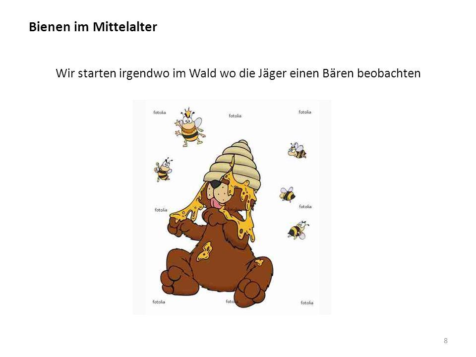 Bienen im Mittelalter Bienenwaben in Bäumen 9