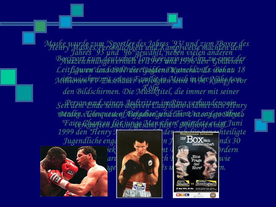 Henry Maskes Persönlichkeit und Kampfweise machten den Boxsport zum deutschen Top-Ereignis und ihn zu einer der Leitfiguren des wiedervereinigten Deutschlands.