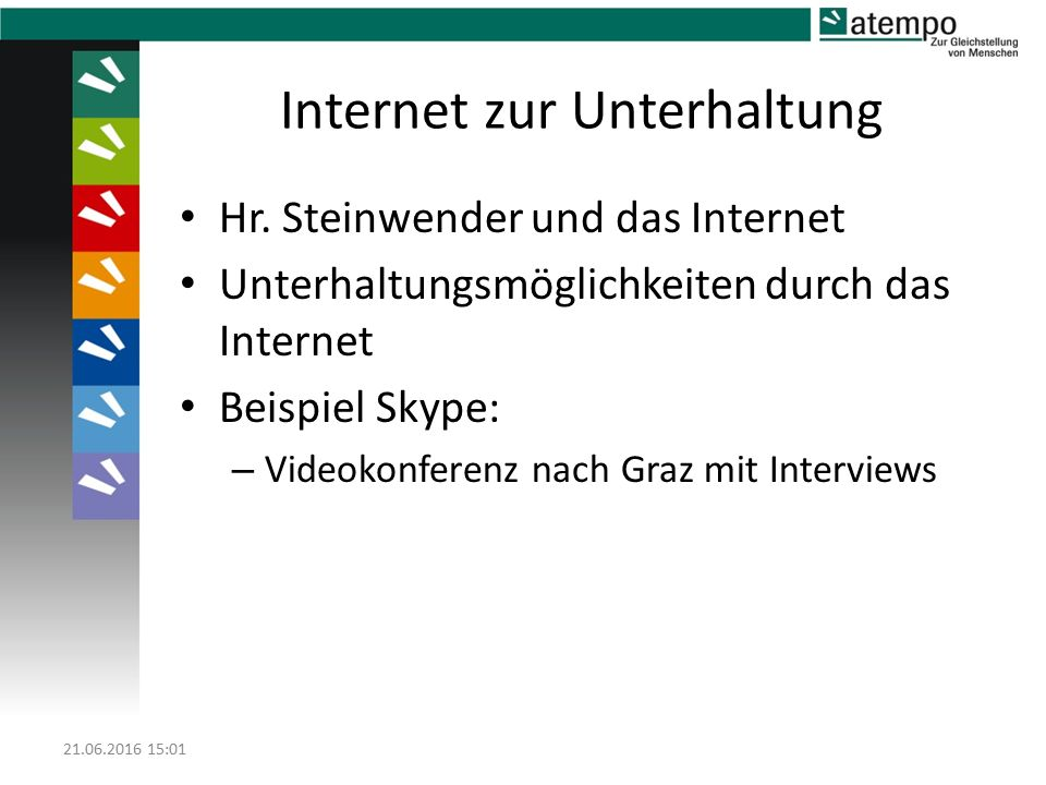 Internet zur Unterhaltung Hr.