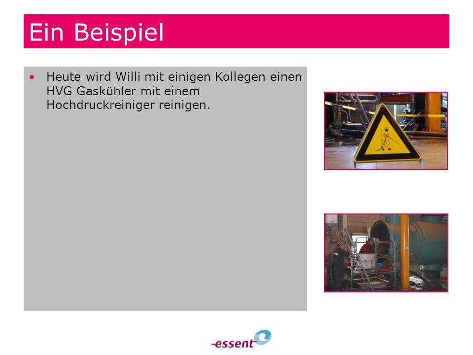 Ein Beispiel Heute wird Willi mit einigen Kollegen einen HVG Gaskühler mit einem Hochdruckreiniger reinigen.