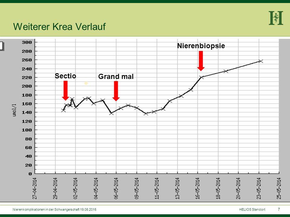 7 Weiterer Krea Verlauf Sectio Grand mal Nierenbiopsie HELIOS StandortNierenkomplikationen in der Schwangerschaft 19.06.2015