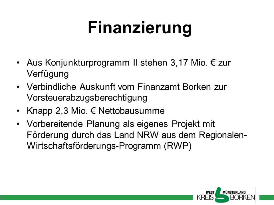 Finanzierung Aus Konjunkturprogramm II stehen 3,17 Mio.