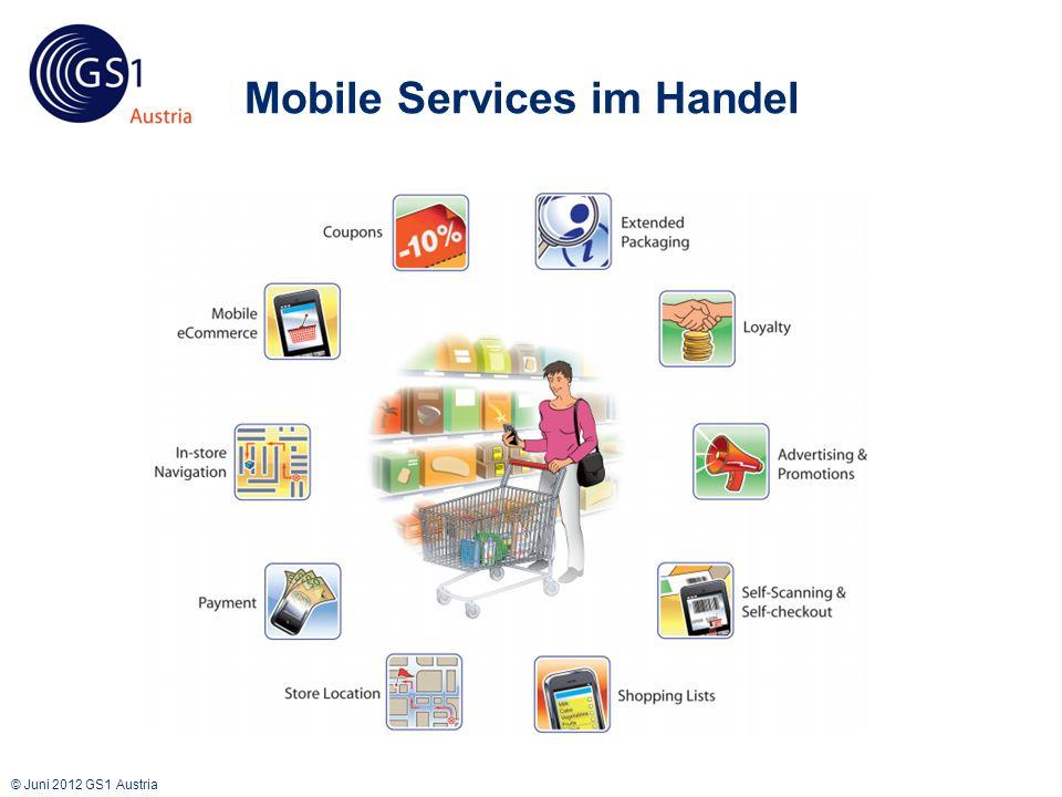 © Juni 2012 GS1 Austria Mobile Services im Handel GS1 Standards im Handel