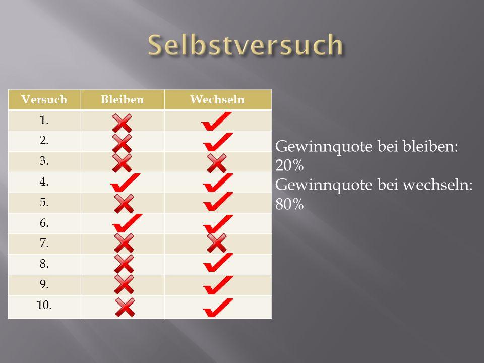 VersuchBleibenWechseln 1. 2. 3. 4. 5. 6. 7. 8.