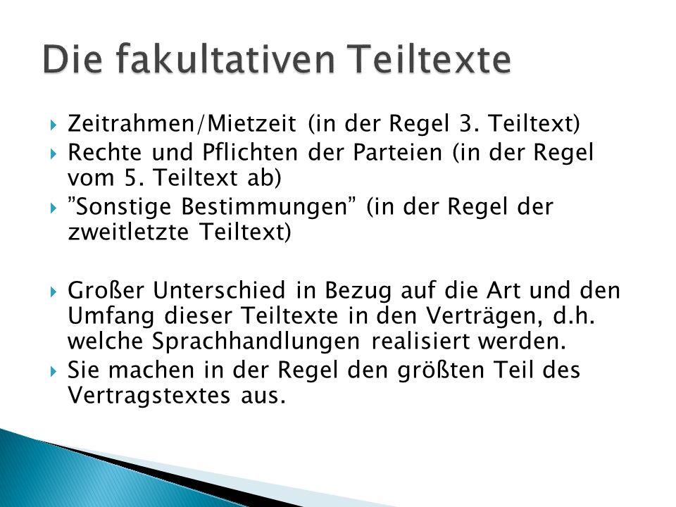  Zeitrahmen/Mietzeit (in der Regel 3.