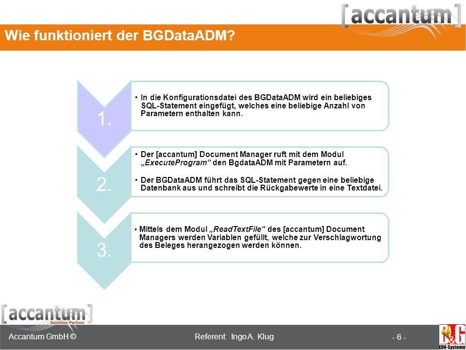 ADM Seminar 18.-19.Juni 2008 Referent: Jan Neumann Accantum GmbH ©Referent: Ingo A.
