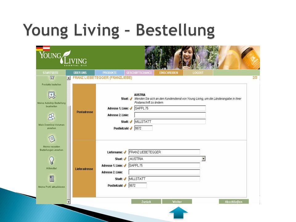  RENE LEITNER  Meierhoefenstrasse 8a  A-8062 Kumberg  leitner-rene@aon.at  0660/34 555 64  www.younglivingoele.at  Member Nummer 949788