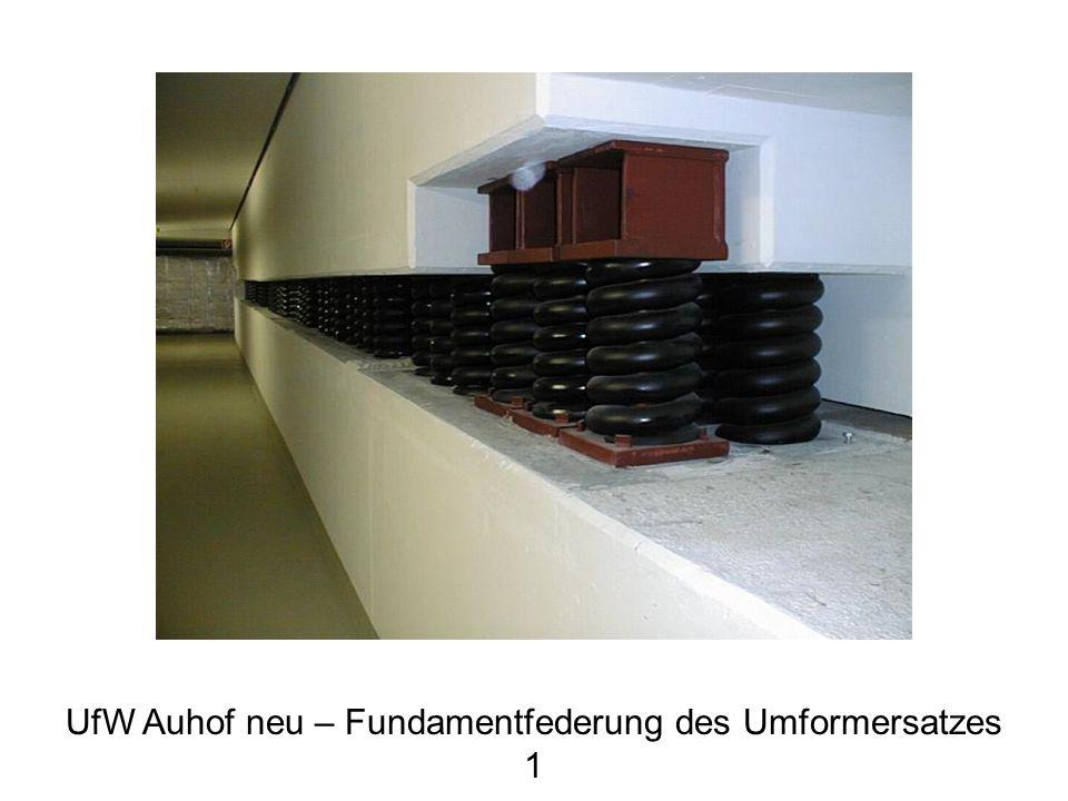 UfW Auhof neu – Fundamentfederung des Umformersatzes 1