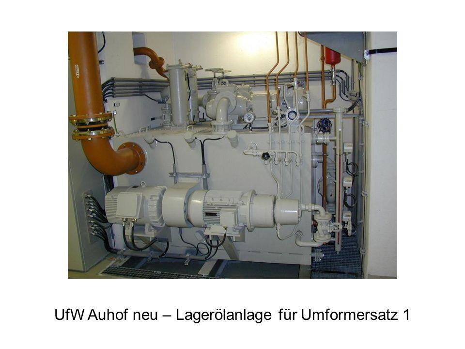 UfW Auhof neu – Lagerölanlage für Umformersatz 1