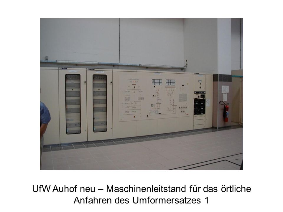 UfW Auhof neu – Maschinenleitstand für das örtliche Anfahren des Umformersatzes 1