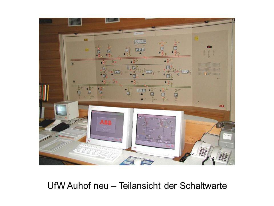 UfW Auhof neu – Teilansicht der Schaltwarte