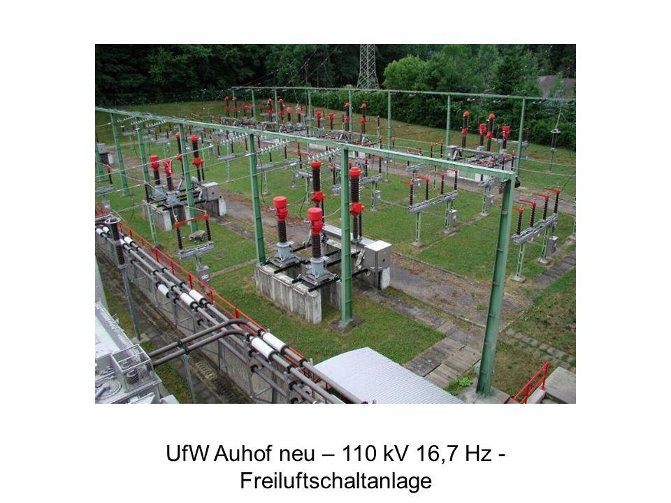 UfW Auhof neu – 110 kV 16,7 Hz - Freiluftschaltanlage