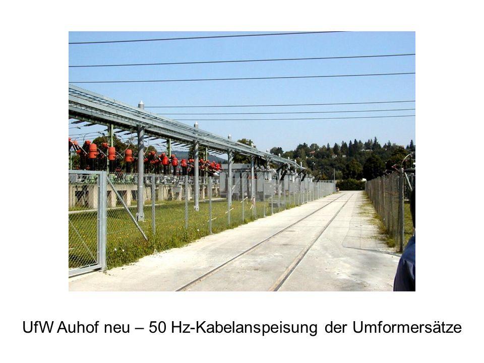 UfW Auhof neu – 50 Hz-Kabelanspeisung der Umformersätze