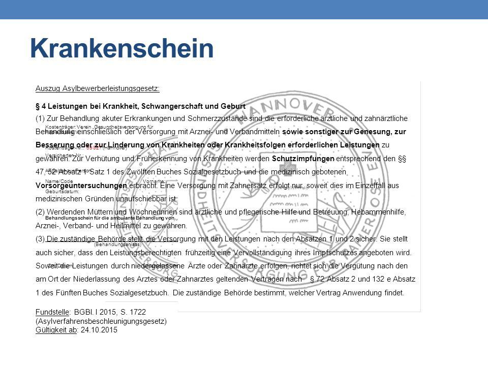 """Kostenträger: Verein """"Gesundheitsversorgung für Papierlose e.V. Kostenträger-Nr.: 09 827 (Hannover) Versicherten-Nr.: Angaben zur Person: Name/CodeVor"""