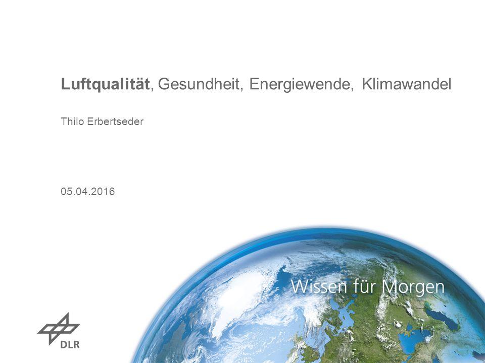 Luftqualität, Gesundheit, Energiewende, Klimawandel Thilo Erbertseder 05.04.2016